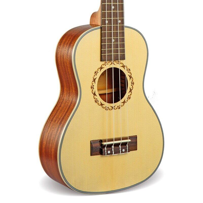23 Inch Ukulele Concert Hawaii 4 String Mini Guitar Acoustic Electric Ukelele Cavaquinho Guitare Music Instrument With Pickup Eq Malaysia