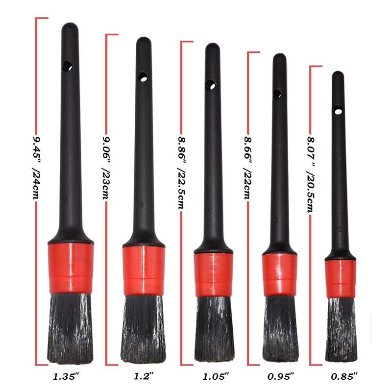 Giá 10 Pcs Auto Detailing Brush Set for Cleaning Wheels, Interior, Exterior, Include 5 Pcs Premium Detail Brush and 2 Pcs Automotive Air Conditioner Cleaner ,3 Pcs Double Wire Brush
