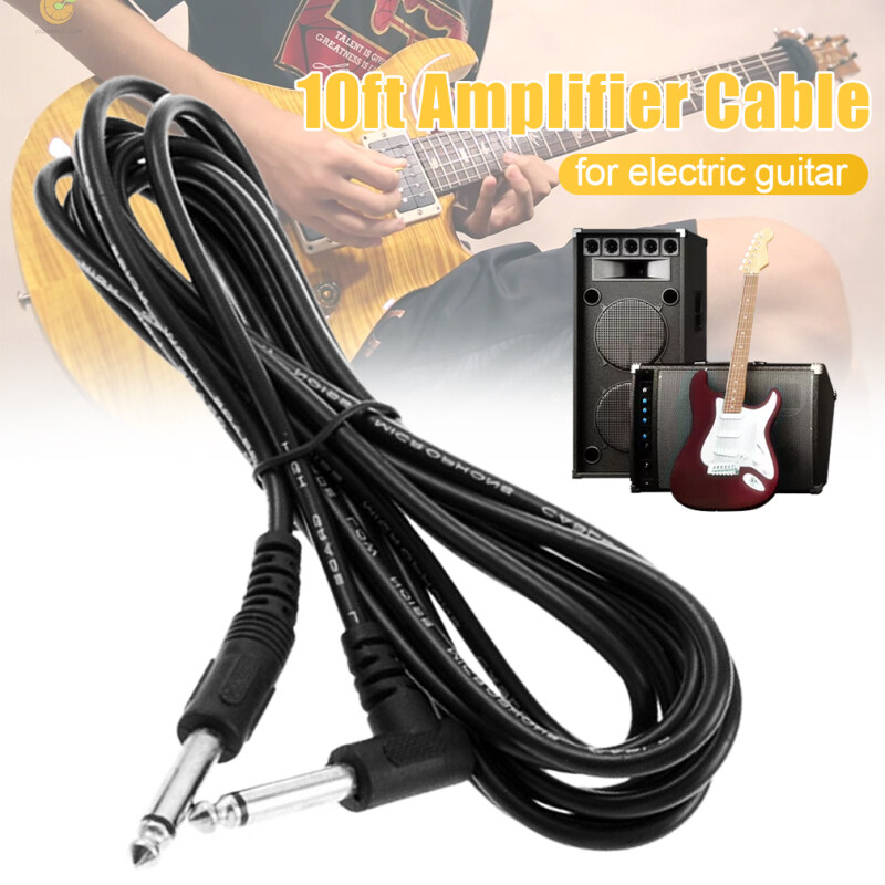 Idealhere 1pcs 10ft 3m Electric Patch Guitar Amplifier AMP Instrument Cable Cord Black Malaysia