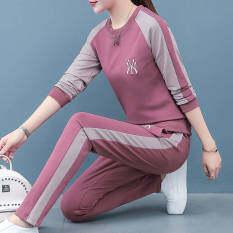 VESTLINE Bộ đồ thể thao dài tay vải thun chất lượng cao thời trang kiểu Hàn Quốc cho nữ – INTL