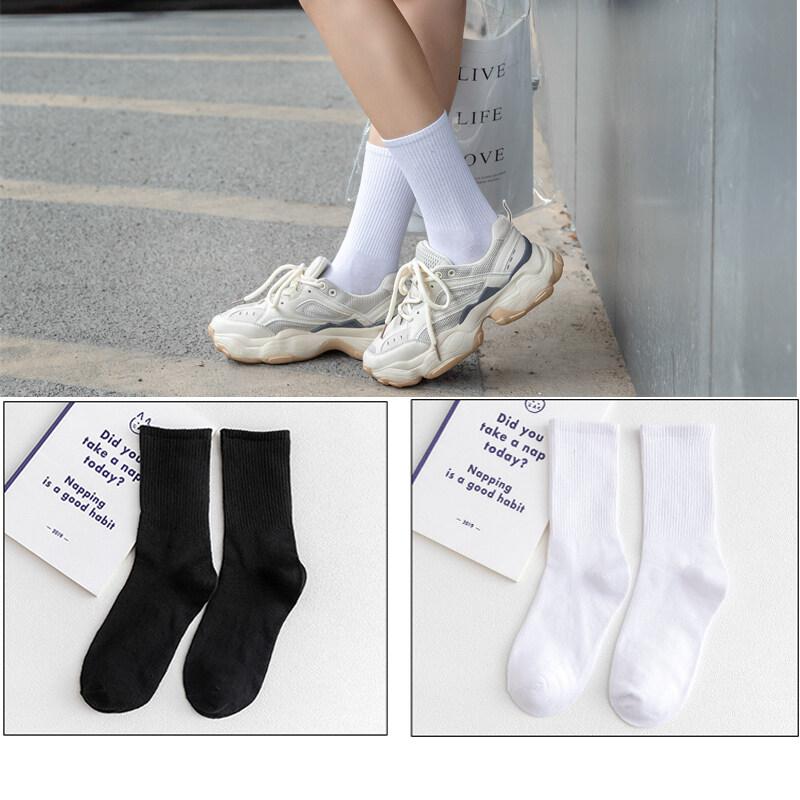 长筒袜子女小腿袜中筒夏季黑色瘦腿jk半截高筒过膝ins潮薄款夏天