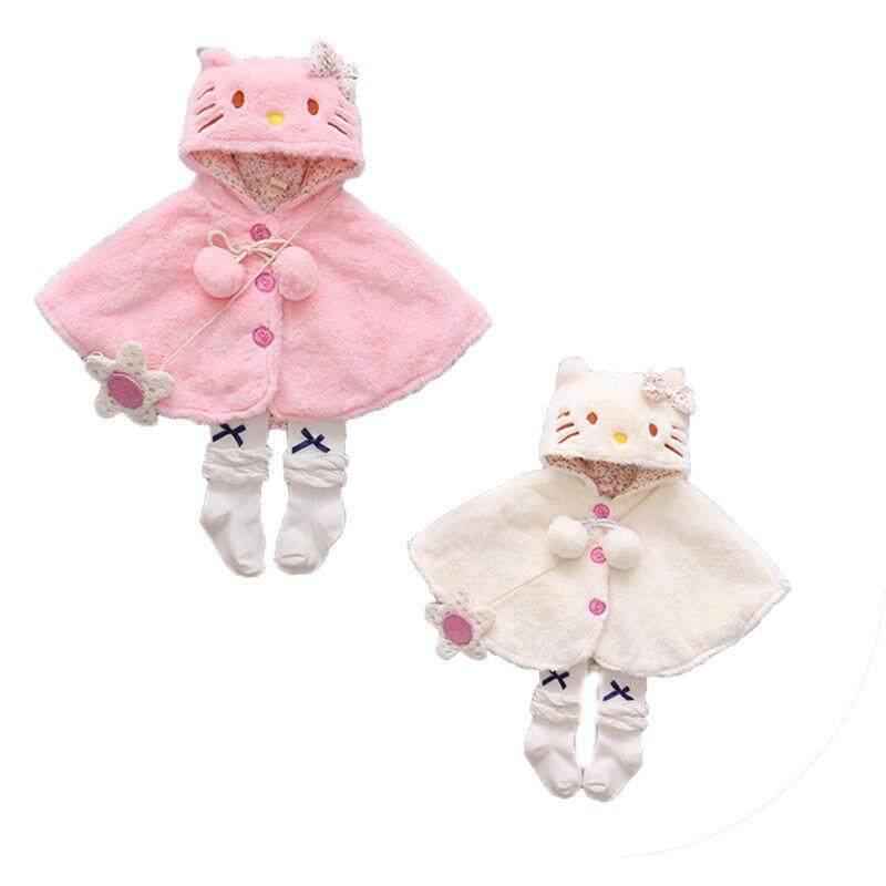 Cute Baby Cat Hooded Cloak Poncho Jacket Outwear Warm Coat Clothes Snowsuit By Mm88 Store.