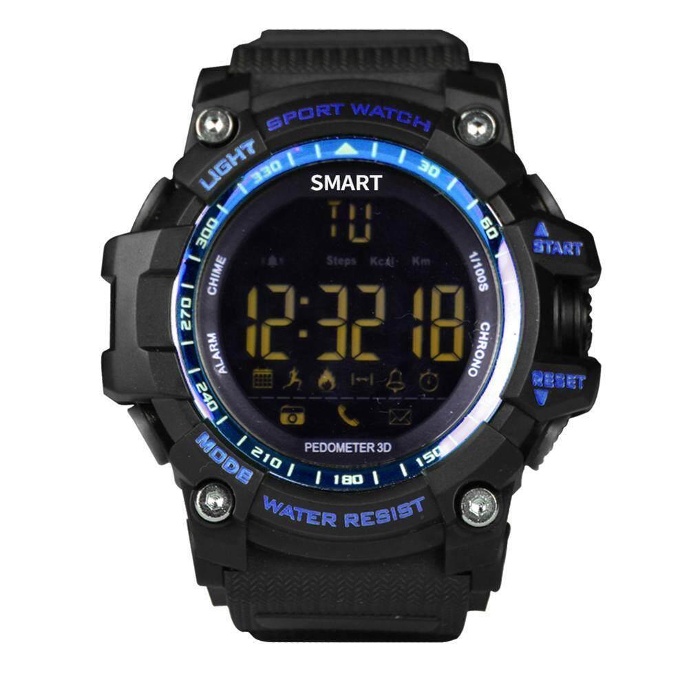 Nơi bán EX16 Chủ Thời Gian Từ Xa Bluetooth Đo Sức Đi Bộ Chống Nước (Xanh Dương)
