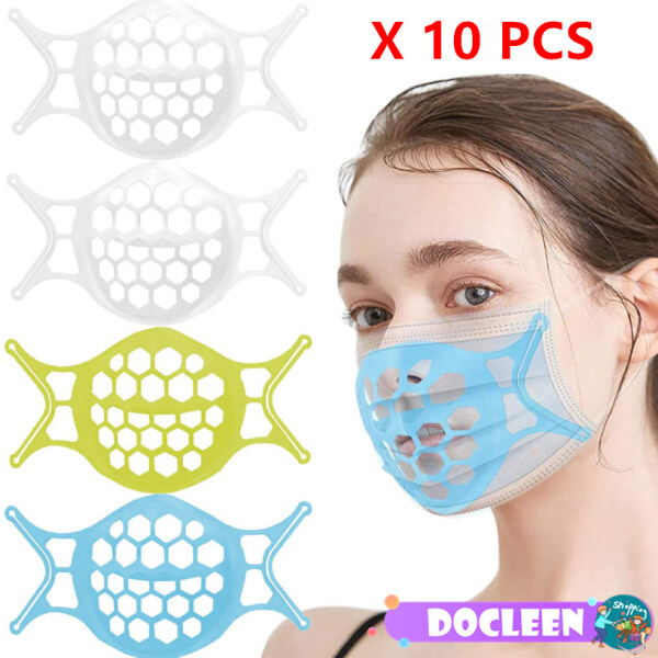 [Ready To Ship][10 PCS] Docleen 3D Washable Soft Face Mask Bracket Reusable Inner Support Frame  Mask Stand Face Mask Holder