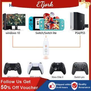 ETjork- Bộ Chuyển Đổi Tay Cầm Chơi Game R100 Cho SWITCH Máy Chơi Game PS4 PS5 PC XBOX PS3 Phụ Kiện Trò Chơi Còn Hàng thumbnail