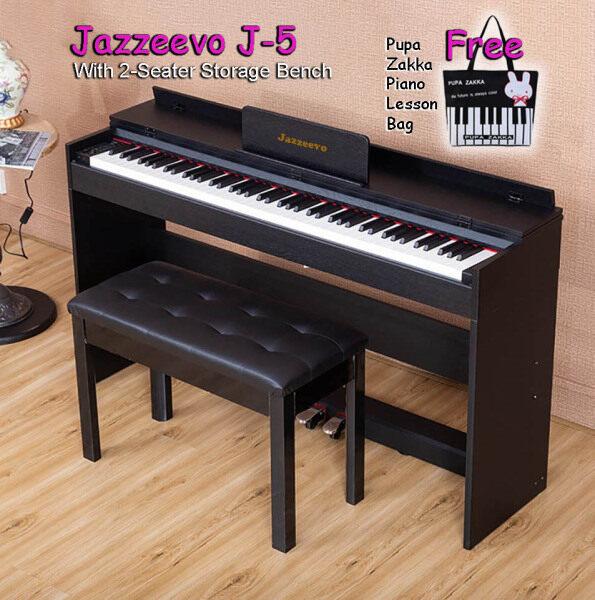 Exam Grade/ Master Grade 88 Keys Digital Piano Hammer Action Weighted Keys Fully Weighted Full Size Key Jazzeevo J-5 High Quality Flip Cover Free Piano Lesson Bag Malaysia