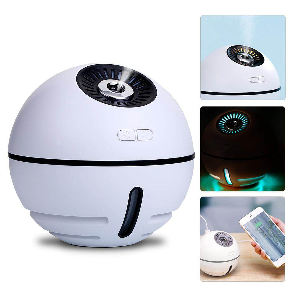 BluShine 4 In 1 Multi-function Led Light Mobile Power Small Fan Air Humidifier For Family Office Bedroom/White