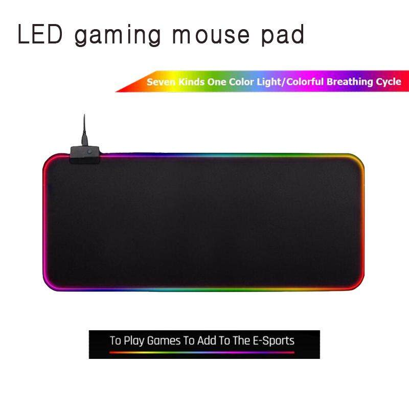 Large LED RGB mouse pad rubber lighting light gaming mouse pad desktop mouse pad Malaysia