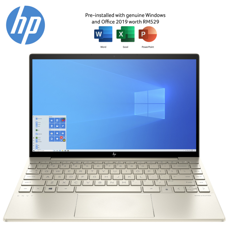 HP ENVY 13-Ba1011TX 13.3 FHD Laptop Pale Gold ( I7-1165G7, 16GB, 512GB SSD, MX450 2GB, W10, HS ) Malaysia