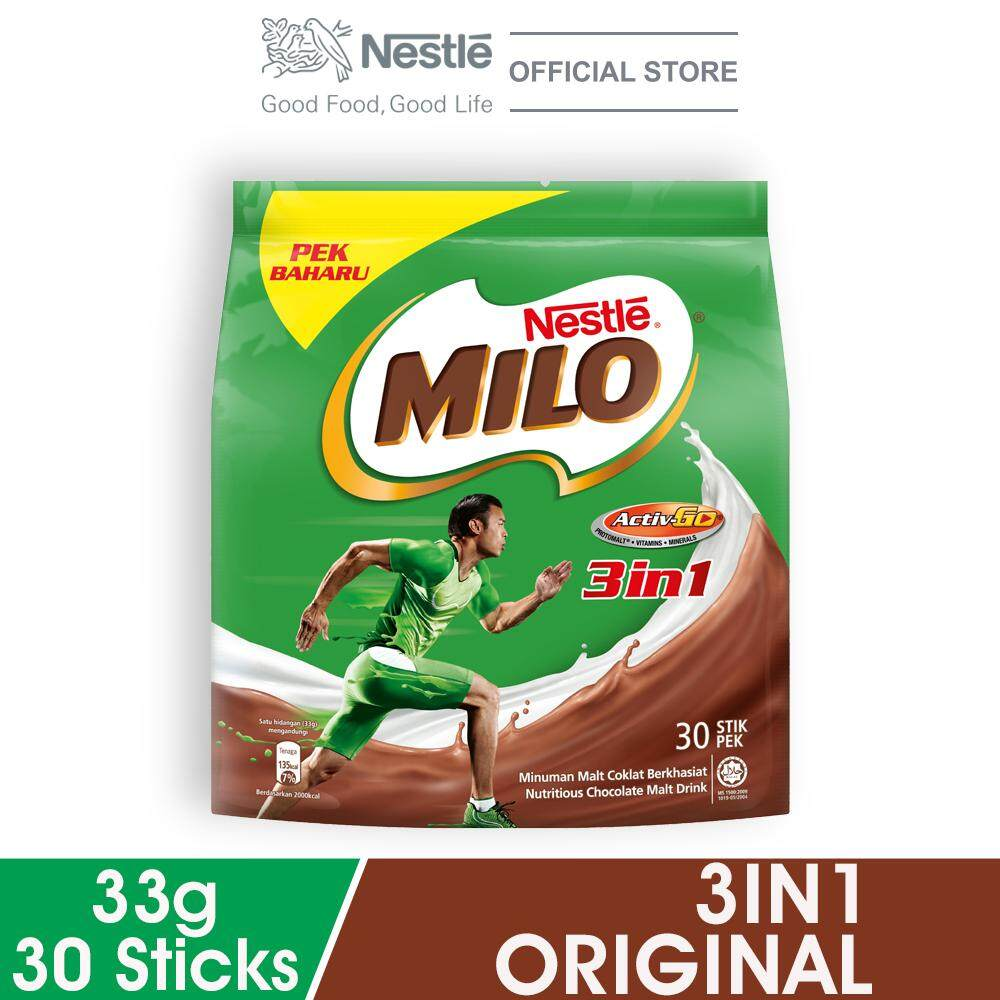 Nestle Milo 3in1 Activ-Go Chocolate Malt Powder 30 Sticks, 33g Per Stick (special Offer) By Lazada Retail Milo.