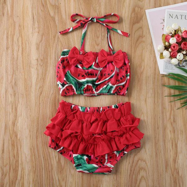 Nơi bán Nikit 0-5Y Trẻ Mới Biết Đi Bé Gái Đồ Bơi Đi Biển Bộ Bikini Bộ Đồ Tắm Ruffle