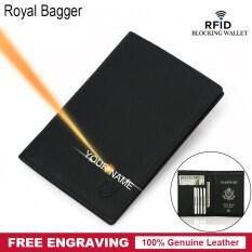 Ví Đựng Hộ Chiếu Royal Bagger Cho Nam Ngăn Đựng Thẻ RFID Bằng Da Bò Thật Túi Đựng Hộ Chiếu Du Lịch Cho Nam Ví Mỏng Thời Trang Hoài Cổ Ví Kẹp Tiền Mỏng Cho Doanh Nhân