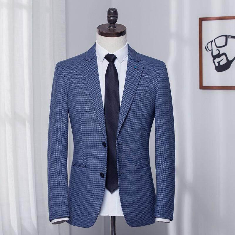 Ukuran Plus Pakaian Santai Pria Jaket Mantel Blazer Ramping Bisnis Pria Kerja Pakaian Gaun Pernikahan