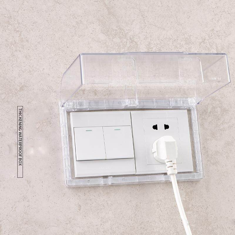 Bedroom protects Kid Flush-type Socket-outlet Plastic Cover Protected against Splashing Water Enclosure Bathroom toilet kitchen Wall decoration socket switch Plugs waterproof cover