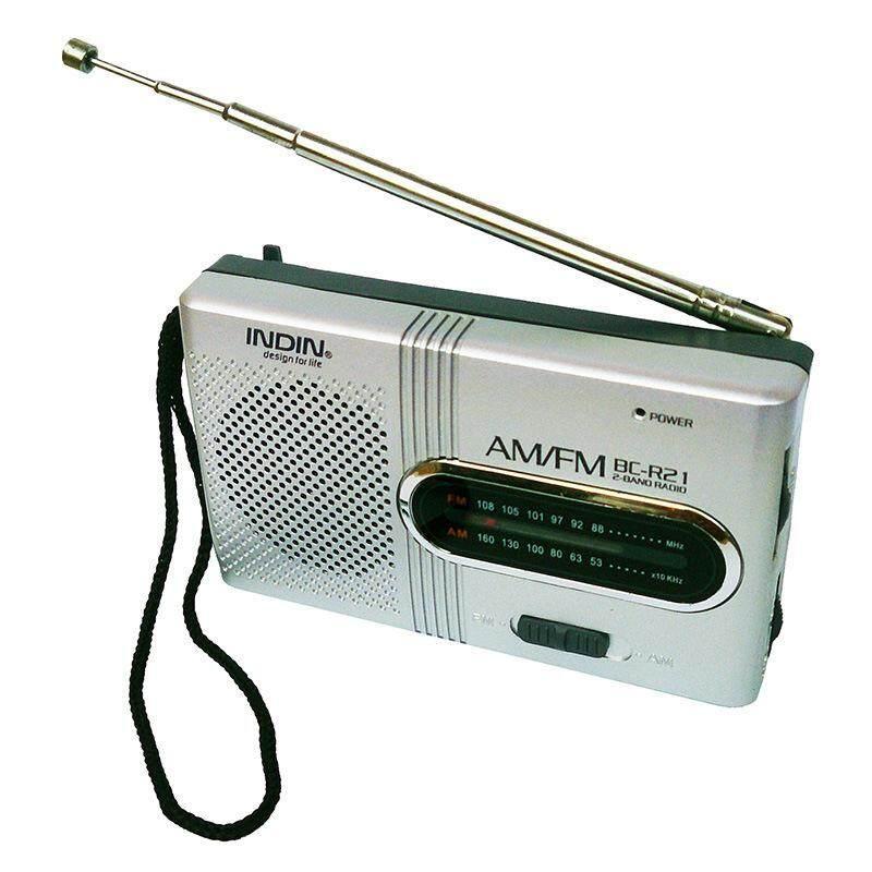 BC-R21 Mini Radio Portable AM FM Telescopic Antenna Pocket Radio World Receiver Speaker Battery Powered