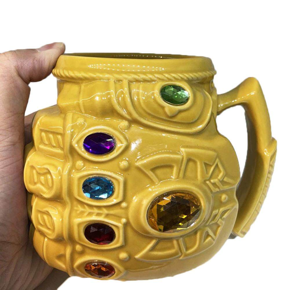 Anime Marvel Avengers: Endgame 4 Thanos Mug Cup Gloves Boxing Cup Tea Cup Milk Cup Cartoon Large Capacity Color Ceramic Cup