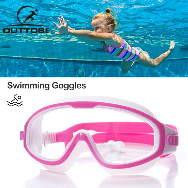 Outtobe Swimming Goggles Anti Fog UV Protection Eye Wear Professional Swimming Glasses Adjustable Waterproof Swim Goggles Children Swimming Goggles  Sports Eyewear with Optional Case