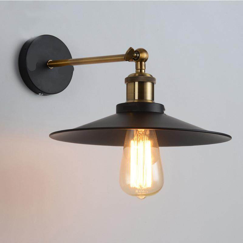 Hossen Loft Vintage Wall Lamp Metal Glass Retro Antique Ceiling Lamp Metal Industrial Decor Lighting