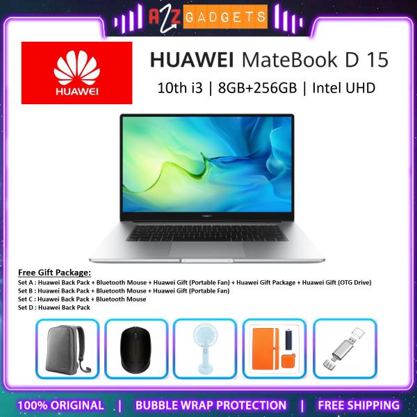 HUAWEI MateBook D15 2021 (Intel Core 10th i3/10th i5/11th i5) | (8GB+512GB/256GB) Laptop - Original Huawei Malaysia Malaysia