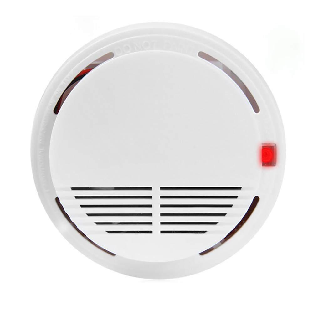 9V Photoelectric Smoke Alarm L-ED Light Flashing & Sound Warning Smoke Alert Detector for Home School Hotel