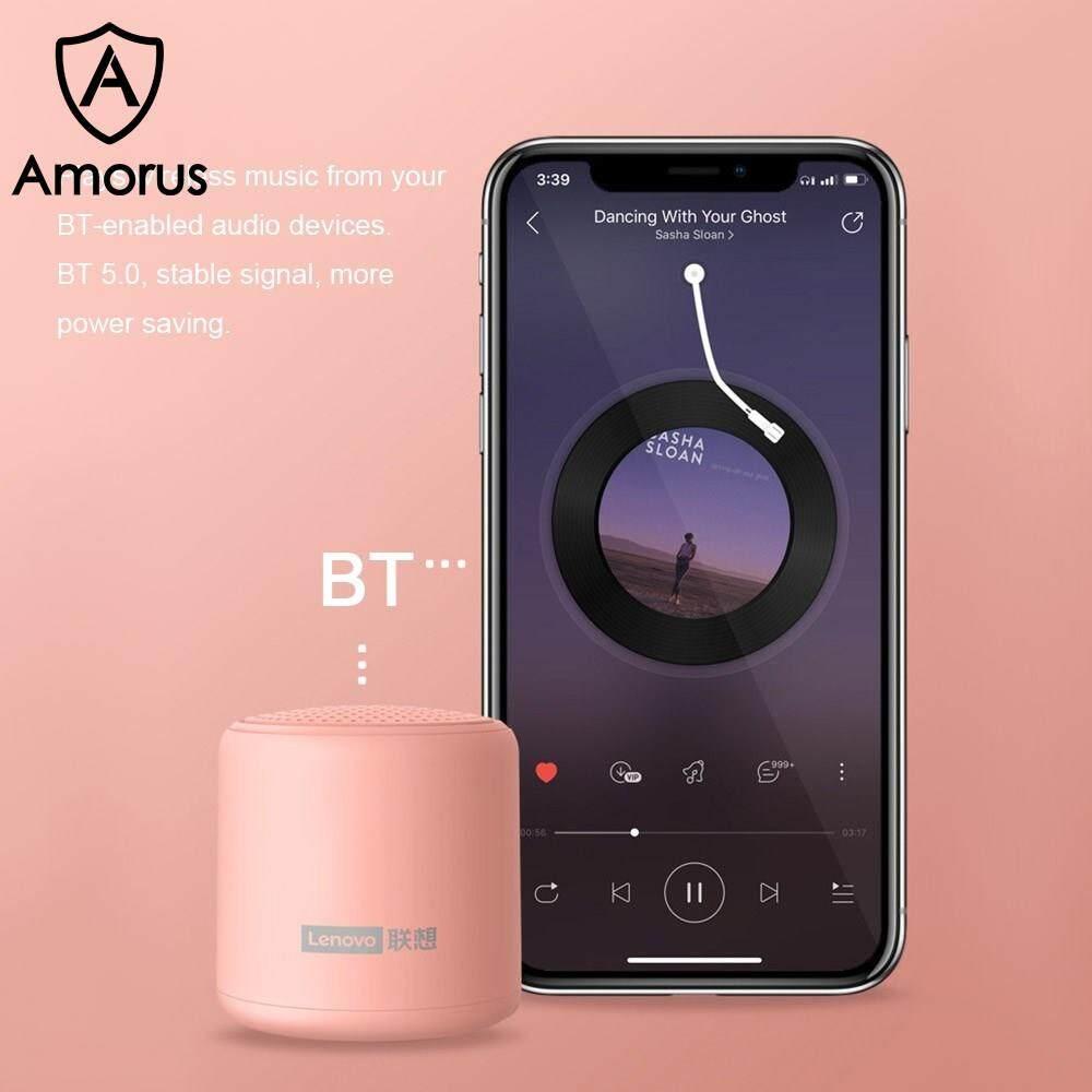 Amorus Loa Bluetooth 5.0 Không Dây Mini Lenovo L01 Loa Ngoài Trời Kết Nối  TWS Hộp Âm Thanh Di Động - Túi đựng máy ảnh