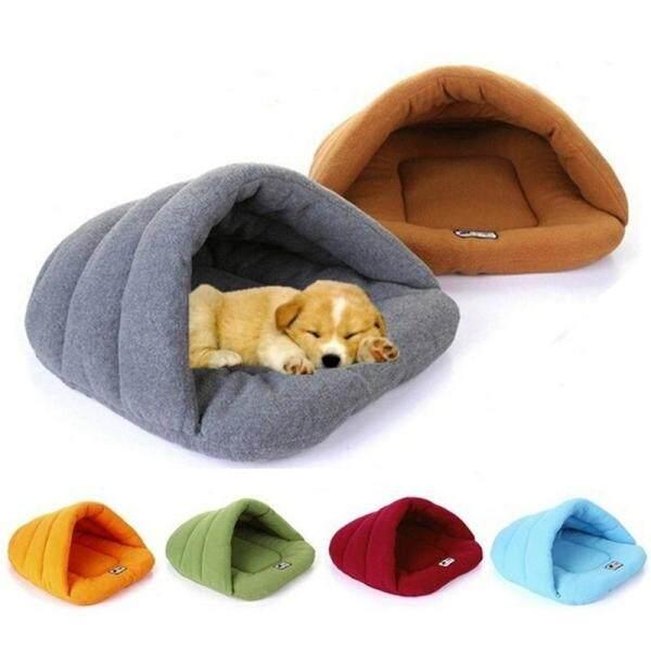 Mềm Polar Fleece Dog Giường Nhà Mùa Đông Ấm Pet Mat Chó Nhỏ Puppy Mèo Túi Ngủ Nest Cave Giường