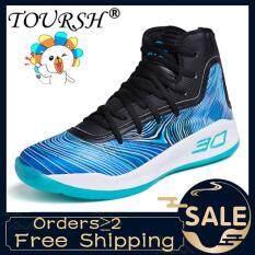 TOURSH Giày Bóng Rổ Cao Hàng Đầu Đệm Giày Bóng Rổ Chống Sốc Thể Thao Giày Thể Thao Ngoài Trời 【Free Shipping】