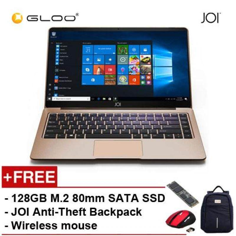 JOI Book 150 - AD-L150G Cel N4100, 4+32GB, 14 FHD, W10 Home, Gold {Free Intel® 128GB SSD + JOI Anti-Theft Backpack - Blue + Wireless Mouse} Malaysia