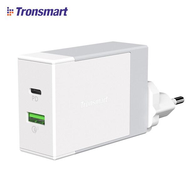 Tronsmart Bộ Sạc Tường USB 3.0 48W W2DT PD Sạc Nhanh 48W, Phích Cắm Anh/EU