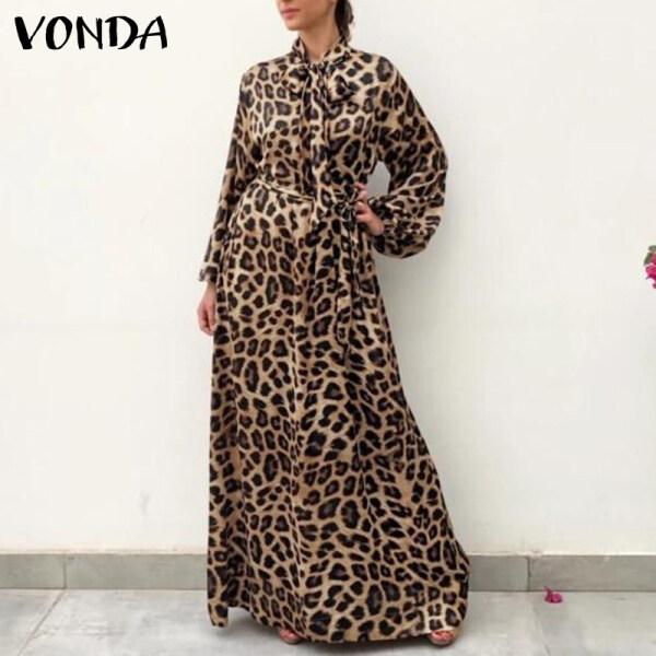 Fancystyle VONDA Đầm Xếp Li Dáng Rộng Tay Phồng Cho Nữ Bên Buổi Tối Ăn Mặc Phụ Nữ Thanh Lịch Đầm