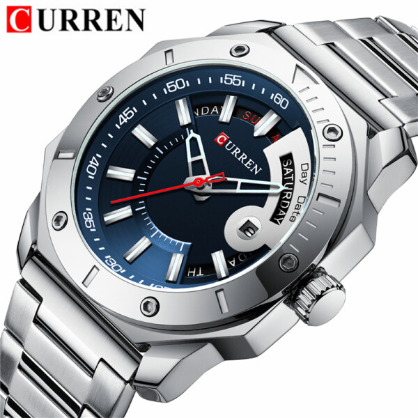 CURREN Top Luxury Brand Fashion Mens Watches Creative Date Quartz Clock Men Casual Sport Waterproof Full Steel Business Watch Malaysia