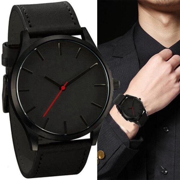 Luxury Fashion Large Dial Military Quartz Men Watch Leather Sport Watches Creative Clock Wristwatch Malaysia