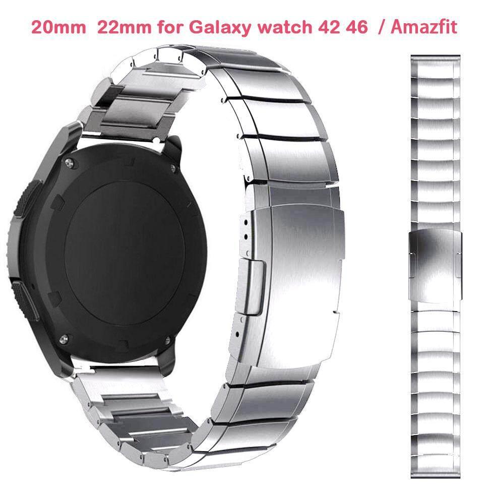 Nơi bán 22mm 20mm Dây Thép không gỉ Dây Đeo dành cho Samsung Galaxy Samsung Galaxy đồng hồ 42 46mm Hoạt Động Bánh Răng S3 S2 cổ điển Amazfit Bip tốc độ Garmin Vivoative 3 Pro