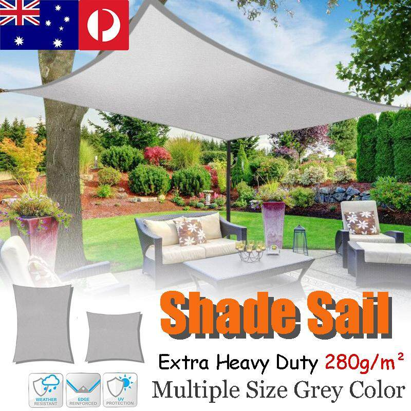 Canopy Awning Rectangle 4*6m Awning canvas Multi size heavy duty shade sail in grey