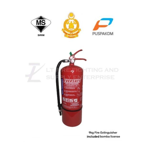 (PRE-ORDER) 9KG ABC Dry Powder Fire Extinguisher With BOMBA License Registration