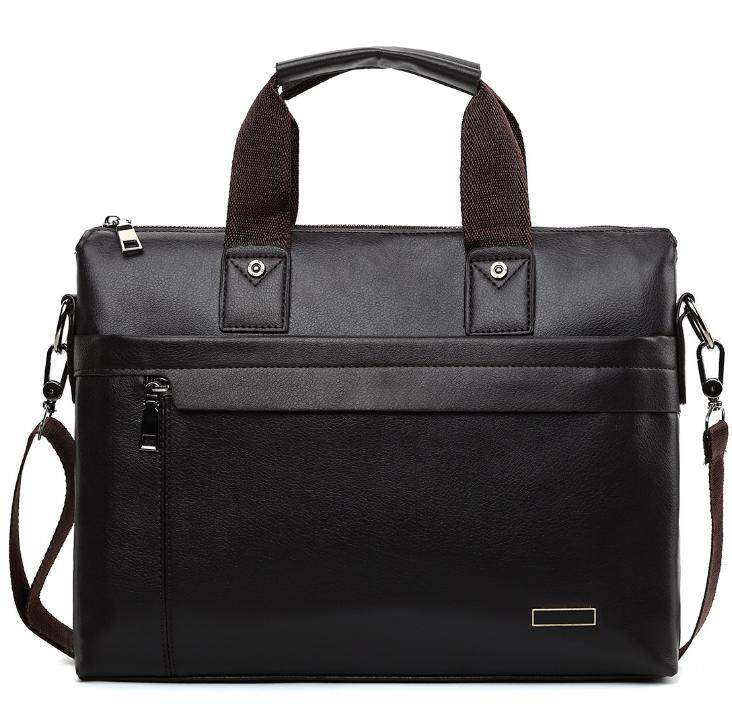 VICUNA POLO Top Sell Fashion Simple Dot Business Men Briefcase Bag Leather Laptop Bag Casual Bag Shoulder Bag