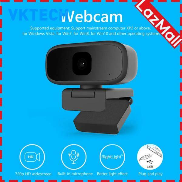 720P Webcam Built-in HD Noise Canceling Microphone Auto Focus Live Streaming Video Conference USB Plug N Play Web Camera for PC
