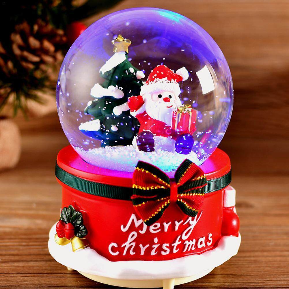 KR Snow Globes Musical with Dancing Snowflakes Handmade Water Ball Crafts for Thanksgiving Birthday Christmas New Year