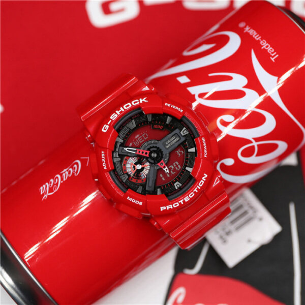 Original G Shock X CocaCola GA110 Men Sport Watch Dual Time Display 200M Water Resistant Shockproof Waterproof World Time LED Auto Light Gshock Man Boy Sports Wrist Watches with 4 Years Official Warranty GA-110COCA19-4PRC (Ready Stock and Free Shipping) Malaysia