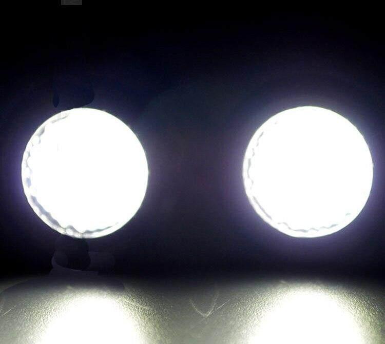 2 Pcs Real 9 W LED Radar Pembalik Desain Mobil Eagle Eye Lampu Berjalan Siang Lampu Kabur DRL Auto Spion Bolak-balik Backup Plat Nomor Belakang Leifen