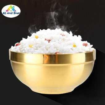ABH 304 สแตนเลสชามทองหนาสองชั้นฉนวนกันความร้อนครัวทำอาหารเครื่องมือ