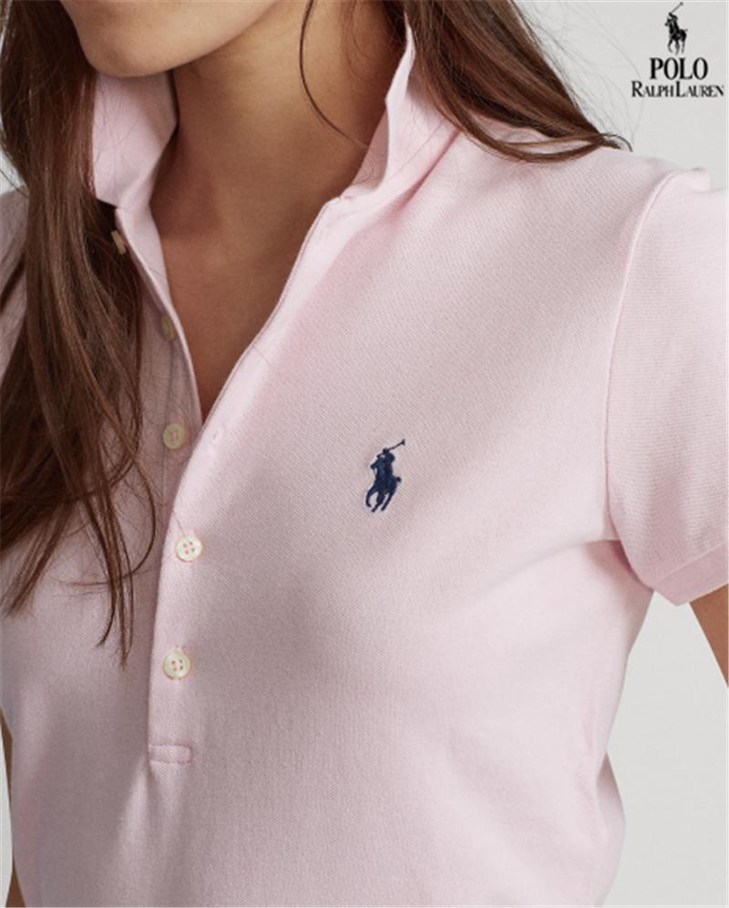 Bán Chạy Ralph 2020 Laurenˉáo Polo Nữ Chính Hãng Mới Áo Sơ Mi Nữ Áo Thun Có Cổ Ôm 100% Cotton Ngắn Tay Oxford Đẹp Cho Nữ Mới Áo Thêu Đôi Màu Hồng