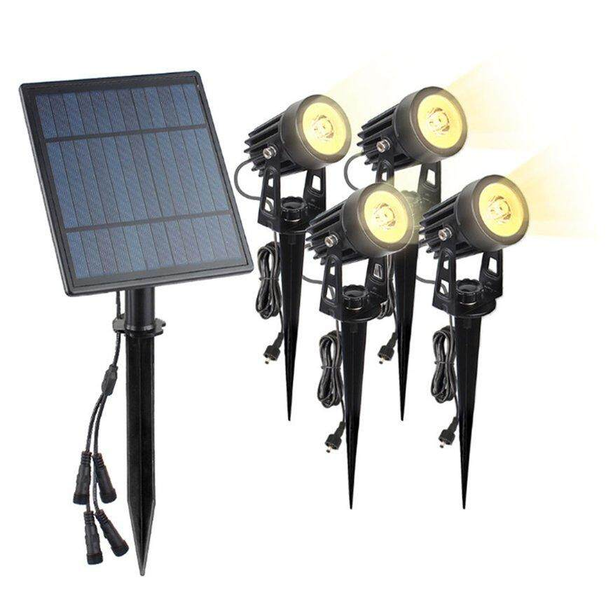 OSMAN Solar Lawn Projector Lights LED Spotlight Outdoor Garden Lamp-Warm Light