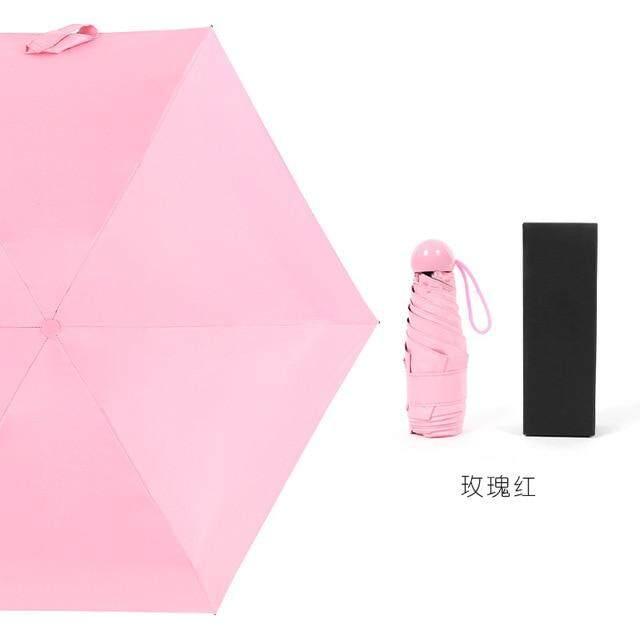 Calidad cápsula Mini bolsillo paraguas claro de los hombres paraguas a prueba de viento paraguas plegables mujeres compacto paraguas de la lluvia,Umbrella A