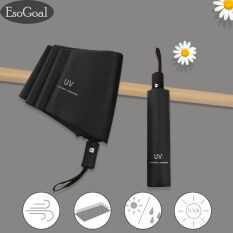 EsoGoal Dù nữ dù tự động 2 chiều Automatic UV Proof One Hand Auto-Open Foldable chống mưa – nắng Umbrella Windproof Vented Umbrella Advanced for Travel and Daily Use