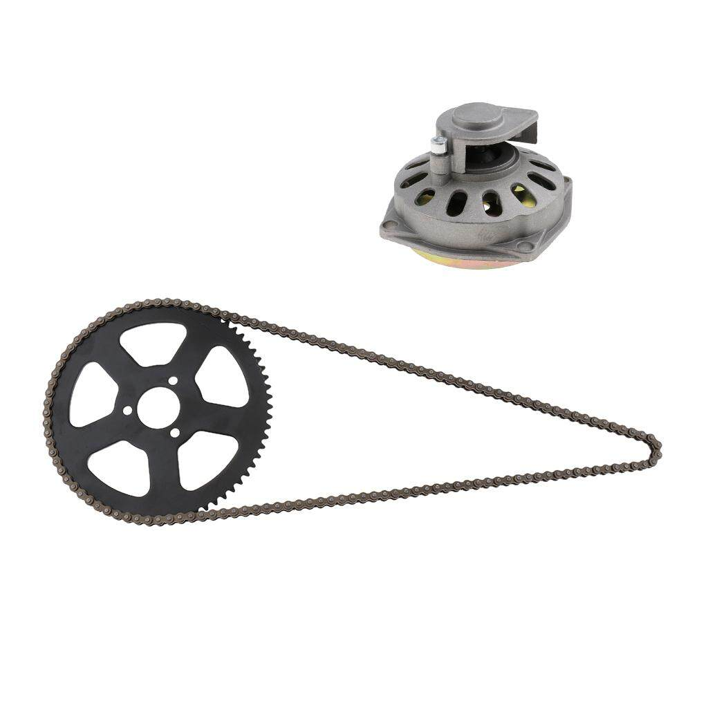 Homyl Heavy Duty 68t Rear Chain Sprocket & 68 Links Chain + Clutch Bell Housing Drum Gear Box By Homyl.