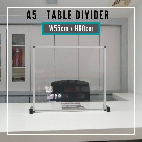 (Pre-Order) A5-55x60cm Sneeze Guard Table Divider/Barrier Protector Shield for Social Distancing Restaurant Office Retail Counter School Canteen (ETA : 2021-8-03)