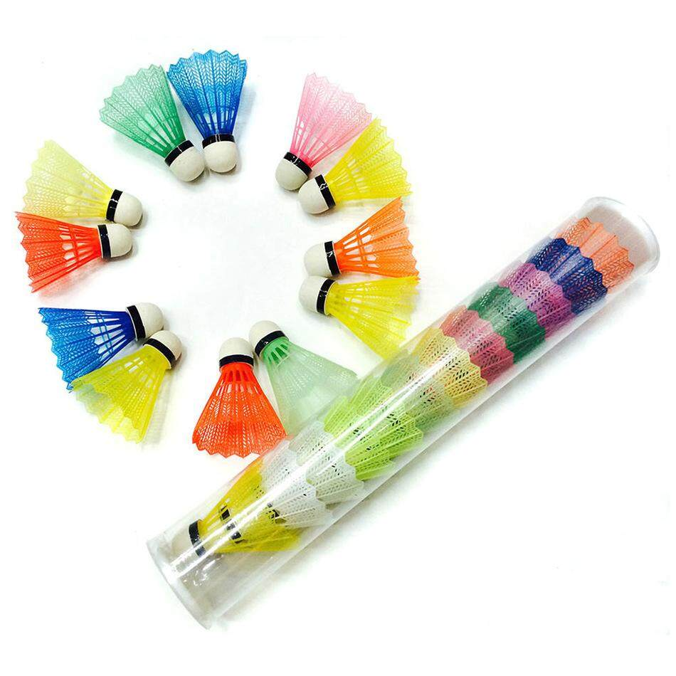 12 Pcs/set Colorful Badminton Shuttlecock Nylon Outdoor Sport Accessories Gym Fitness Balls Plastic Durable By Lovelink.