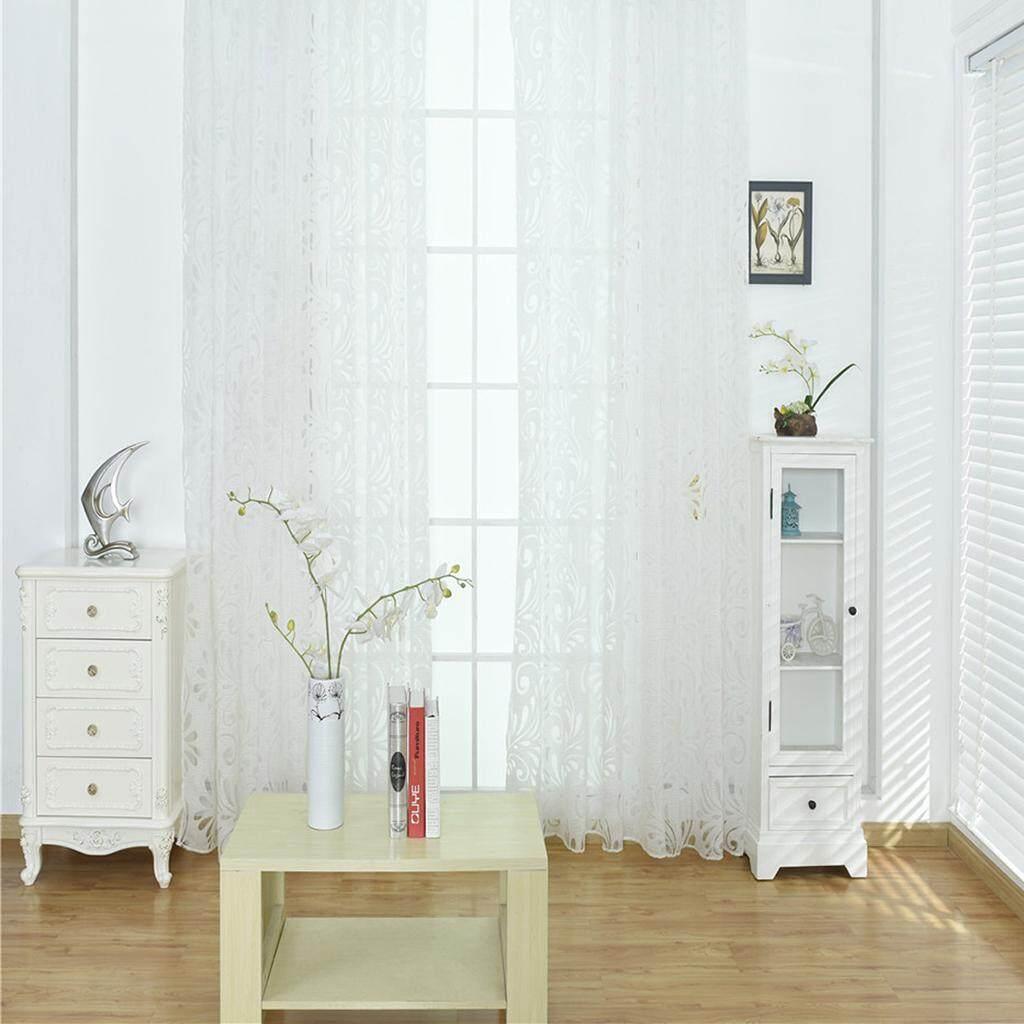 BolehDeals Semi Elegant Sheer Window Curtains Gauze Lace Panel for Living Room 39x78