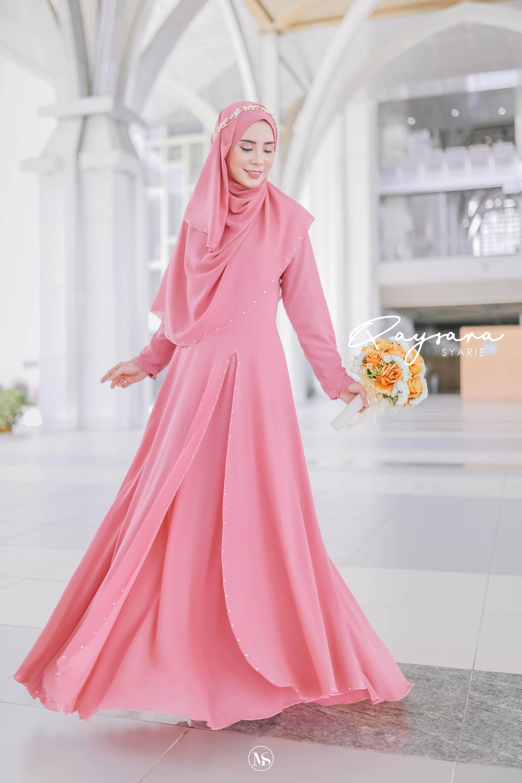 QAYSARA JUBAH TUNANG KAHWIN BAJU RAYA BRIDESMAID BAJU LABUH free tudung 122,  122 set pakaian Pengantin, BATU SWROVSKI , bridesmaid, maid in honour, baju